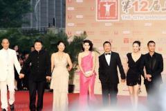 组图:上海电影节开幕范冰冰两款长裙红毯争艳