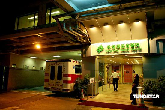图文:探访成奎安病逝医院-医院外灯光昏暗