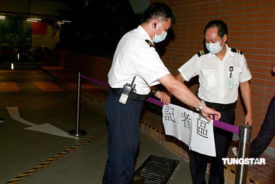 图文:探访成奎安病逝医院-警方设置记者区