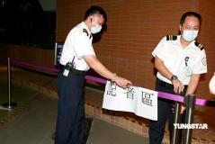 组图:实地探访成奎安病逝医院警方维持秩序