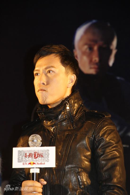 图文:《十月围城》上海宣传-甄子丹帅气侧脸