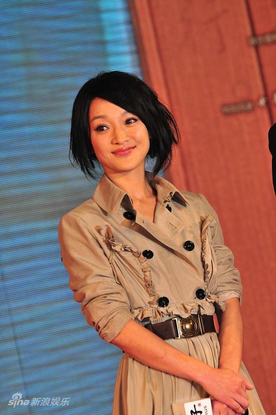 图文:《孔子》广东首映--周迅微笑甜美