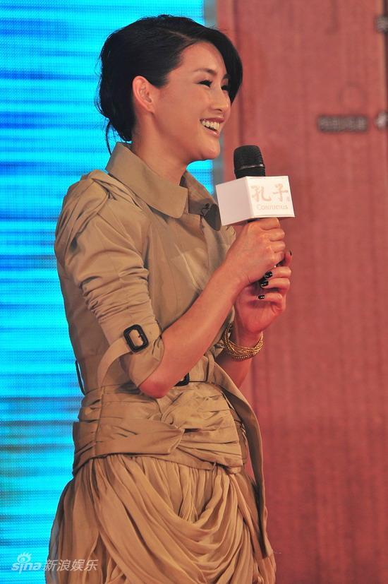图文:《孔子》广东首映--陈瑞笑对提问