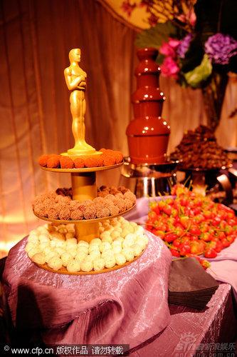 图文:第82届奥斯卡庆祝派对-诱人的美食
