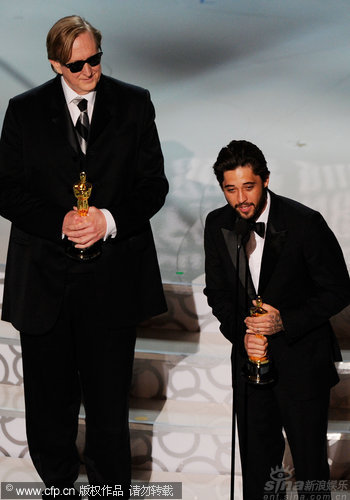 图文:第82届奥斯卡颁奖现场-《TheWearyKind》获得最佳歌曲奖
