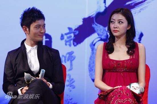 图文:《叶问2》首映发布-黄晓明与熊黛林