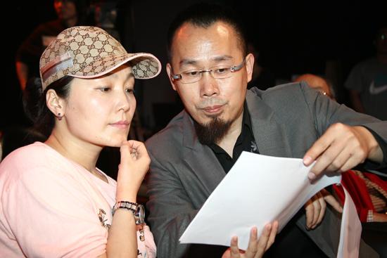 图文:《感情生活》首映发布--编剧马俪文和导演杨竞泽
