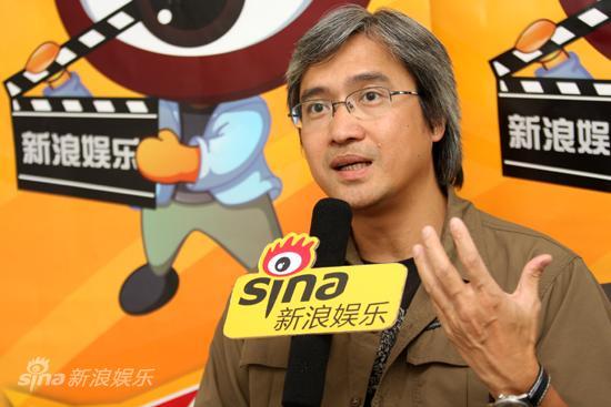 图文:陈木胜做客新浪-陈木胜回应争议