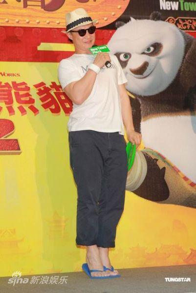 图文:陈奕迅配音《熊猫2》-陈奕迅表情可爱