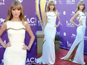 泰勒-斯威夫特白色礼服亮相清新雅致