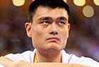姚明现场观篮球赛