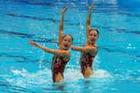 女子花样游泳双人预赛花絮