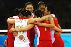 中国力克古巴夺女子排球铜牌
