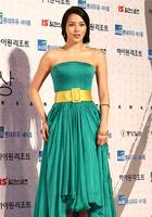 朴诗妍绿色美服醒目