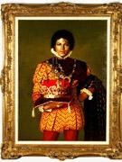 手持皇冠的画像