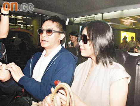 梁朝伟刘嘉玲启程赴不丹泰国转机警车开路(图)