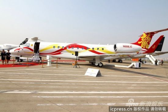 成龙私人飞机。图片来源:东方IC