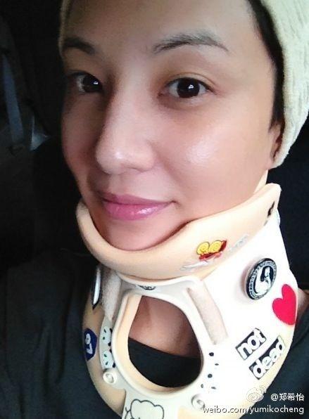 郑希怡受伤一月后微博报告已康复(图)