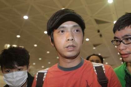 小炳抵达台湾