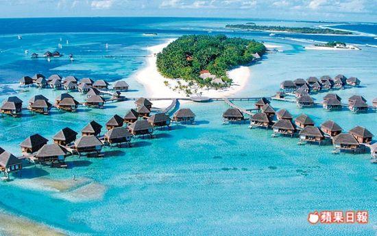 风光明媚的马尔代夫是求婚及蜜月的胜地