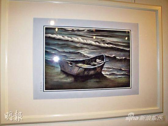 吴君如也有画作展出。