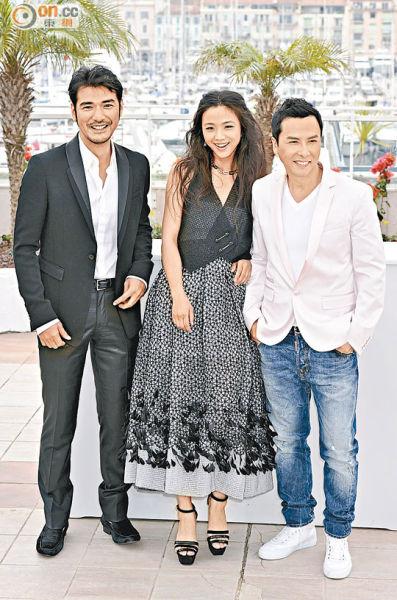 甄子丹曾于2011年与汤唯及金城武到戛纳电影节宣传《武侠》