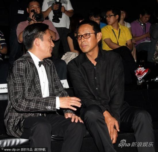 组图:梁朝伟陈道明热聊因刘嘉玲绯闻拒绝采访