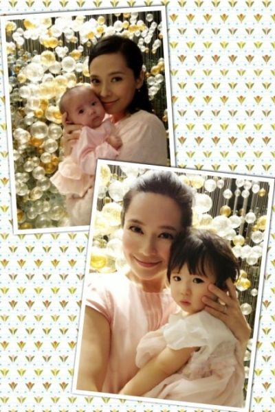 郭羡妮晒爱女刚出生和周岁时的照片