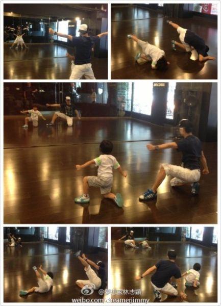 林志颖与儿子小志志父亲节跳舞互动