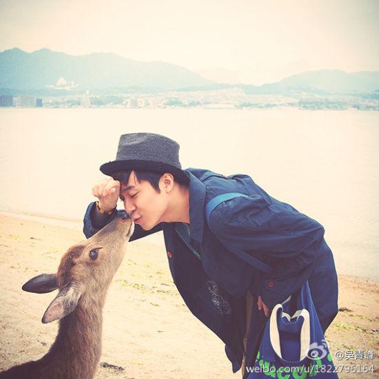 青峰与表情亲吻小鹿呆萌表情a表情(图)画面包吐的可爱舌头图片