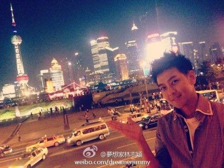 林志颖游上海夜景
