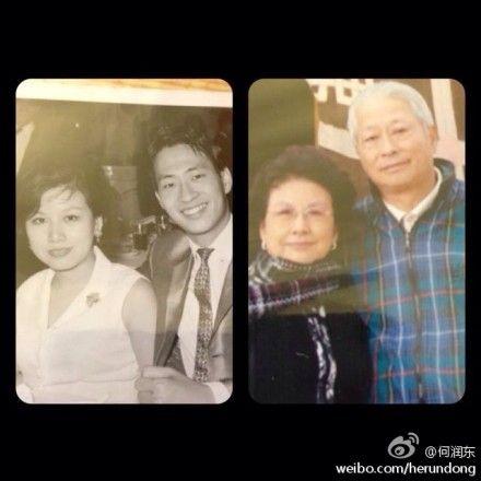 何润东帅气外表遗传爸爸
