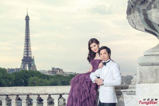 陈美妮与老公婚纱照