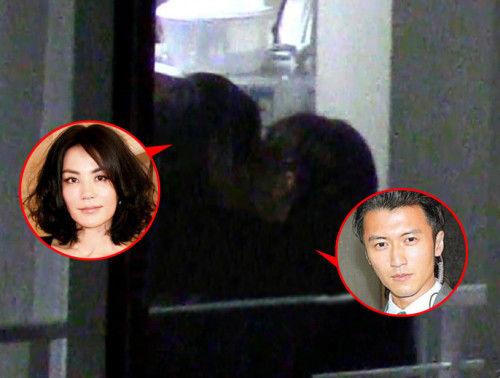 王菲谢霆锋亲吻被拍