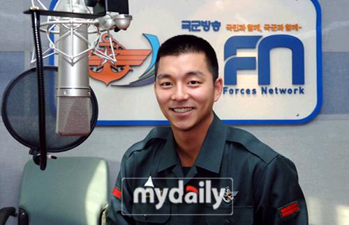 孔侑将担任韩国军队广播节目主持人(附图)