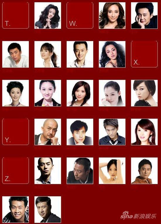 华谊09年群星双年汇计划启动代言人评选