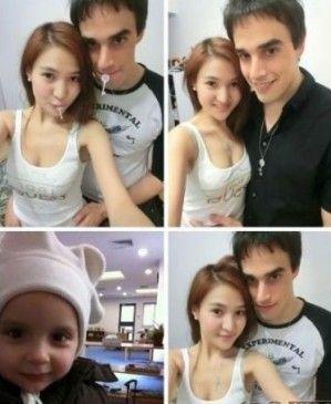 郭美美晒与外籍男友合影。