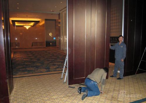 组图:田亮叶一茜大婚在即西安酒店加紧布置