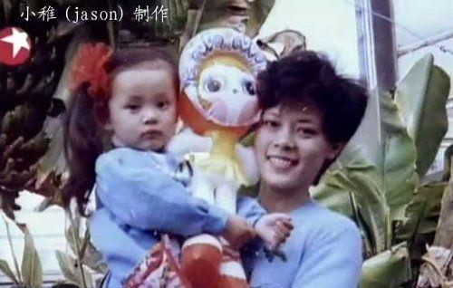 幼时的孙俪和妈妈