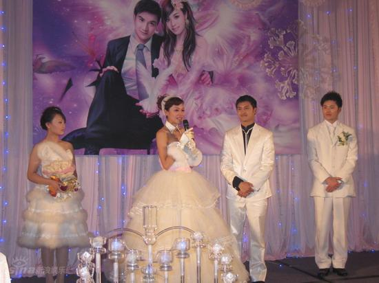图文:田亮叶一茜婚礼--纯白婚礼现场