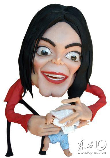 图文:美国名流3D漫像曝光-迈克尔杰克逊猥亵娈童案