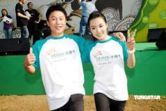 组图:李小鹏刘璇亮相香港与伏明霞重聚很兴奋