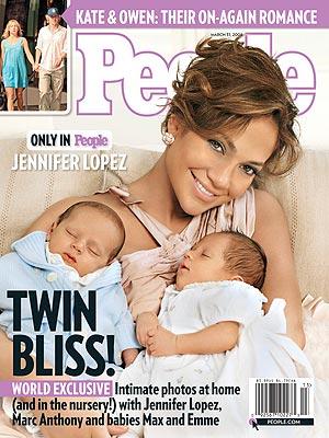 詹妮弗-洛佩兹双胞胎宝宝照片首度曝光(附图)