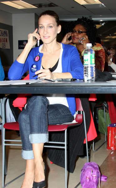 莎拉-杰西卡-帕克为奥巴马打电话拉选票(图)