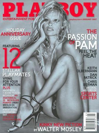 安德森曾经当过《花花公子》1990年2月号伴游女郎,为该杂志拍摄封面多达13次