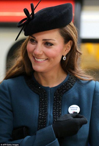 凯特王妃已经怀孕大约14周