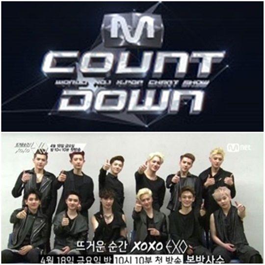 《M countdown》、《火热的瞬间xoxo EXO》