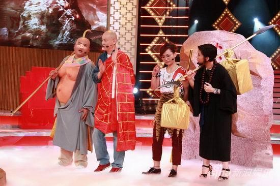 """周笔畅郑欣宜自毁形象演摇滚版""""西游记""""(图)"""