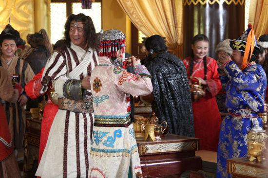 蒙古大婚场面