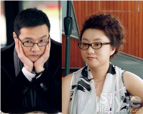 导演汪俊(左)客串骗婚男。安娜(右)的经历告诉女人:嫁豪门需谨慎,做女人要独立。